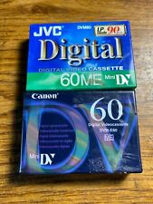 New JVC DV60M 60ME Mini DV Digital Video Cassette LP Mode 90 Minutes Canon60 Min