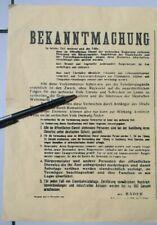 Wwii Germany Occupied Yugoslavia Poster Draza Mihajlovic Wanted Bekanntmachung