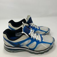 Nike Air Max 2011 White Blue Black Boy's Size 6Y