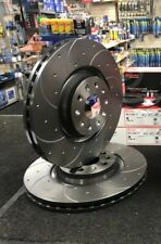 GOLF MK7 GTD GTI PERFORMANCE 340MM BRAKE DISCS BREMBO DRILLED GROOVED FRONT