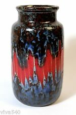 !!!!!!!!! Scheurich 231 15 fat lava vase WEST GERMAN POTTERY modernist  !!!