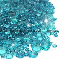 Teal Mixed Sizes Scatter Diamonds Wedding Party Table Confetti Crystal