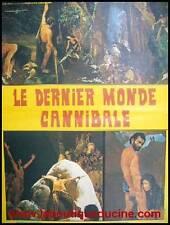 LE DERNIER MONDE CANNIBALE Affiche Cinéma / Movie Poster 53x40 Ruggero Deodato
