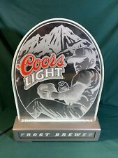 Coors Light Beer Mlb Frost Brewed Lighted Advertising Sign Man Cave Baseball