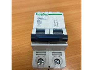 Schneider C60HC201 1 Amp Type C Multi 9 Double Pole Circuit Breaker MCB 25653