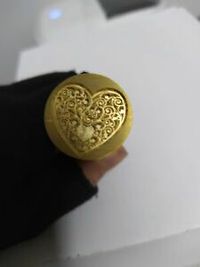 Heart Shape Invitations Wedding Party Copper Vintage Love Sealing Wax Seal Stamp