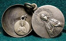 OUR LADY OF LOURDES Old LGE  SLIDE LOCKET MEDAL 21mm