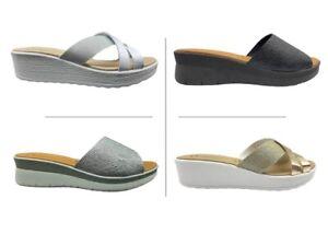 Ciabatte da donna Doctors Shoes pantofole estive comode aperte da casa mare