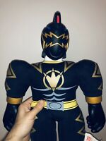 "Bandai Power Rangers Dino Thunder Action Figure Buddy Black Ranger Plush 21"" Toy"