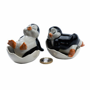 Ceramic Penguins Salt & Pepper Condiment Set