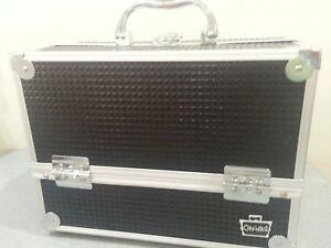 #F DAMAGED new caboodles train case makeup cosmetic organizer Stylist storage