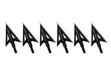 6Pcs sharp Broadheads - 2 blade Metal hunting arrowhead for Archery Crossbow