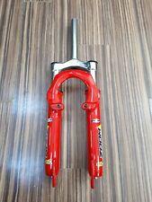 """Zoom 24"""" Wheel Bike Suspension Fork Disc V-brake MTB 1 1/8 Steerer 180mm Red"""
