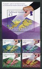 FALKLAND 2013 Referendum Wahlen Landkarte Satz + Block ** MNH
