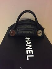 CHANEL A01804 Limited Edition Bag Medallion Black Silver Coins Caviar Skin