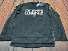 NWT Adidas LA Kings Hockey NHL Crew Neck Sweatshirt Pullover Mens Size S