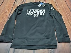 NWT Adidas LA Kings Hockey NHL Crew Neck Sweatshirt Pullover Mens Size S