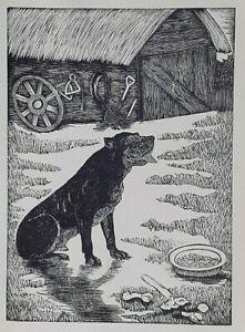 THE FARM DOG By Eric F Daglish Vintage Print C1931 English Artist