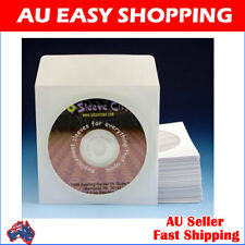 High Quality thick 3000 CD/DVD White Paper Sleeves Envelopes window flap
