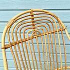 Beau et original fauteuil rotin adulte authentique vintage années 60