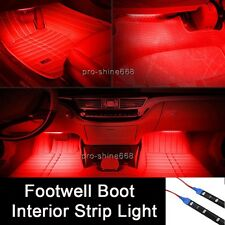 LED Interior Exterior Flexible Strip Footwell Seat Light White Red For Chevrolet