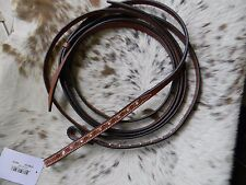 Leather Crystal Bling Accents Quality Western Split Reins New Horse Tack