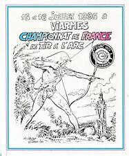 CHERET RAHAN au Championnat de France de Tir à l'Arc à VIARMES AUTOCOLLANT 1995