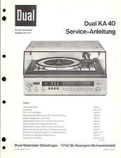 Dual Service Manual für KA 40
