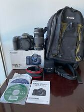 Canon EOS 7D Mark II 20.2MP Digital SLR Camera and EF-S 75-300 mm lens