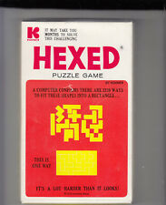VTG. HEXED PUZZLE GAME 2339 WAYS TO FIT THE SHAPES by KOHNER BROS. 1972 #115