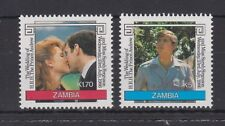 1986 Royal Wedding Prince Andrew & Sarah MNH Stamp Set Zambia SG 458-459