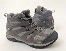 Columbia Women's Waterproof Hiking Mid High Gray Boot 10.5