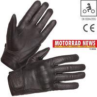 MODEKA Motorradhandschuhe HOT CLASSIC schwarz Leder Sommer CE Retro Gr. 10 / XL