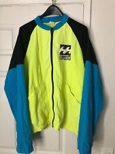 Vtg Billabong Tricolor Windbreaker Jacket XL Mens Highlighter Green/Blue/Black
