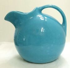 Vtg Fiestaware Harlequin Pottery Service Water Pitcher Original Turquoise EUC