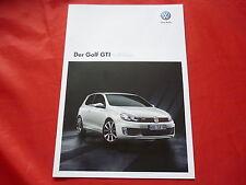 """VW Golf VI GTI """"adidas"""" Sondermodell Prospekt von 10/2010"""