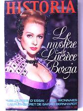 Historia n°320; Le mystère de Lucrèce Borgia/ Les monnaies/ Pilotes d'essai
