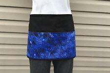 Black 3 pocket Blue Glitter waitress waist Half apron Servers restaurants Bars