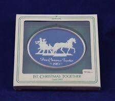 Hallmark Ornament 1st CHRISTMAS TOGETHER 1983 Sleigh Ride Cameo