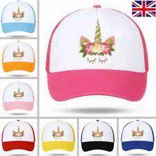 Unicorn Cap Girls Boy Kids Baseball Cap Summer Beach Sun Hat Adjustable UK STOCK