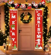 Idefair Merry Christmas Banners,New Year Outdoor Indoor Red-xmas