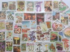 100 Different Mushrooms/Fungi on Stamps Collection
