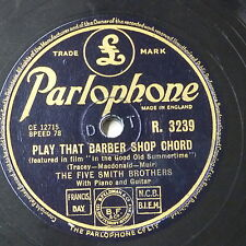 78rpm THE FIVE SMITH BROTHERS play that barber shop chord / hop scotch polka