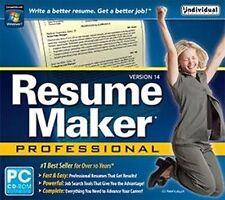 Resume Maker Pro v.14   Write a Professional Resume   Windows 7 8 Vista XP  NEW