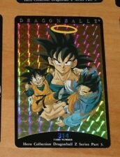 DRAGON BALL Z DBZ HERO COLLECTION PART 3 CARD RARE PRISM CARTE 314 MINT NEUF