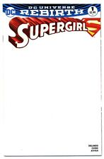 SUPERGIRL Vol.7 #1(11/16)BLANK VARIANT COVER(CYBORG SUPERMAN)REBIRTH(CGC IT)9.8!