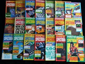 YOUR SPECTRUM MAGAZINE Complete Set Issues 1 - 21 Sinclair Games