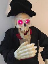 *RARE* GEMMY 3 ft Animated Singing Karaoke SKELETON Halloween Decoration Prop