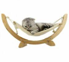 Fashion Wood Cat Hammock Soft Fleece Cotton Rabbit Hamster Bed Cushion Small Dog
