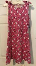 Nwt - Love @ First Sight Pink & White Unicorn Dress - Girls Size 14-16